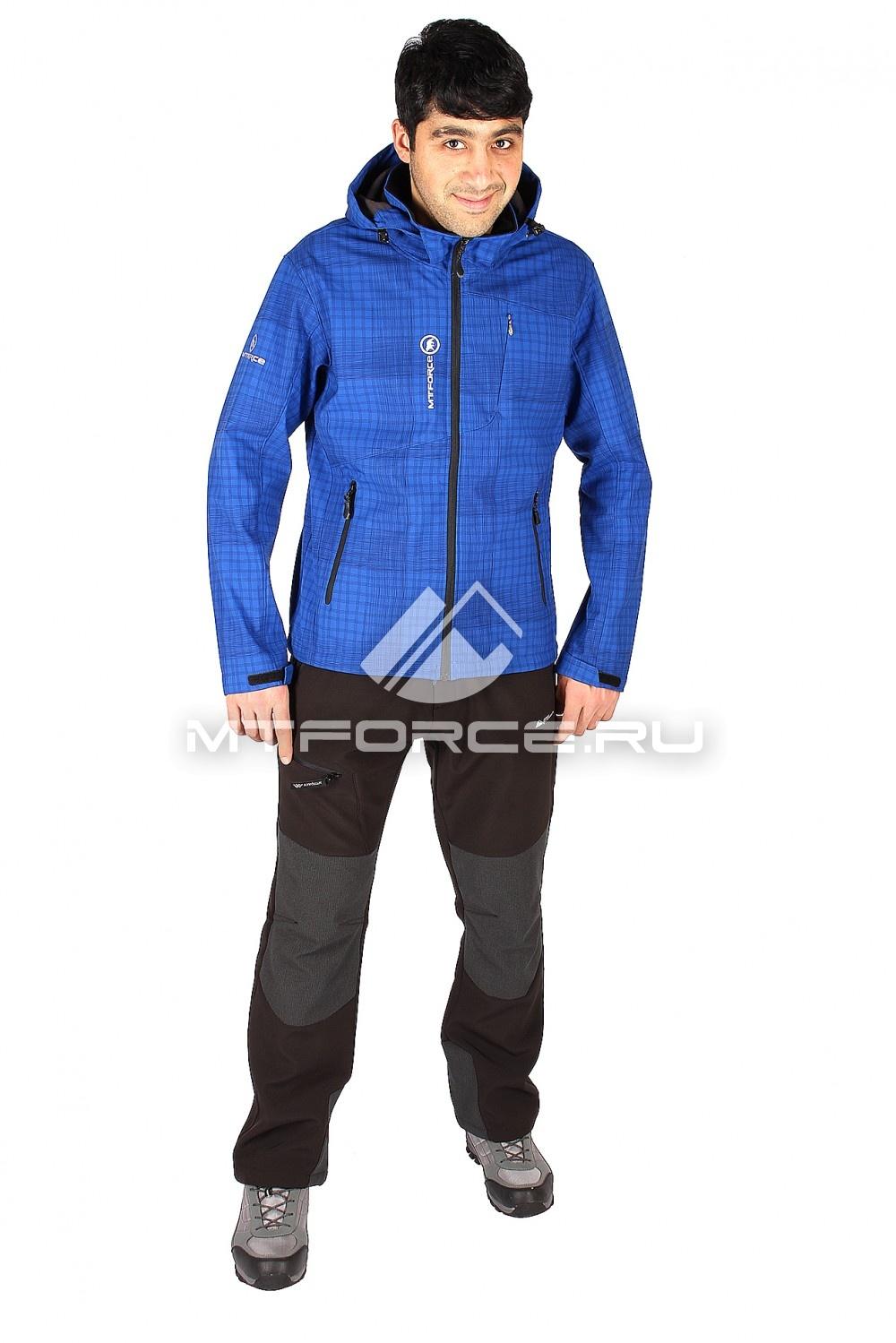 Купить                                  оптом Костюм виндстопер мужской синего цвета  01504_1S