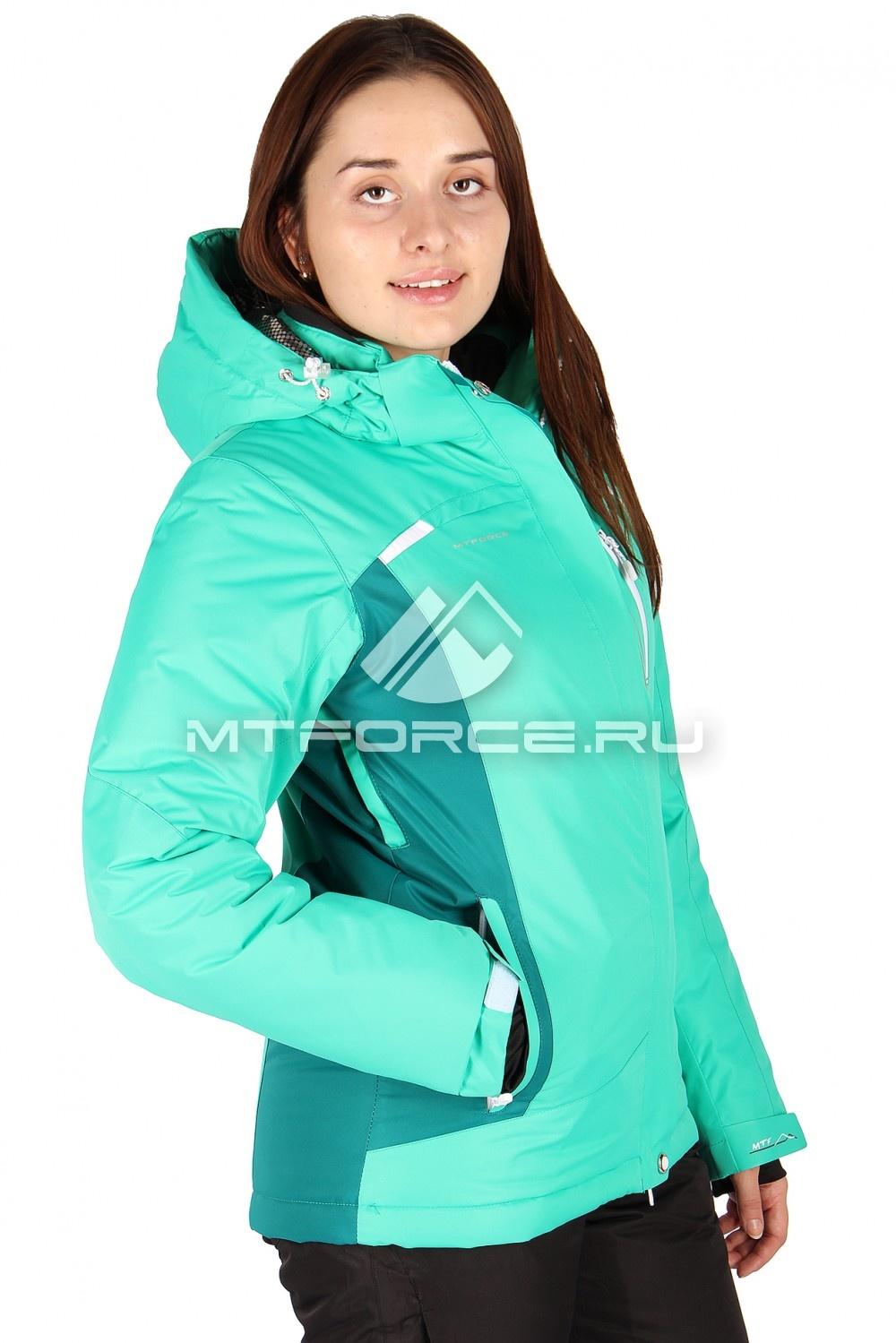 Купить                                  оптом Куртка горнолыжная женская зеленого цвета 1513Z