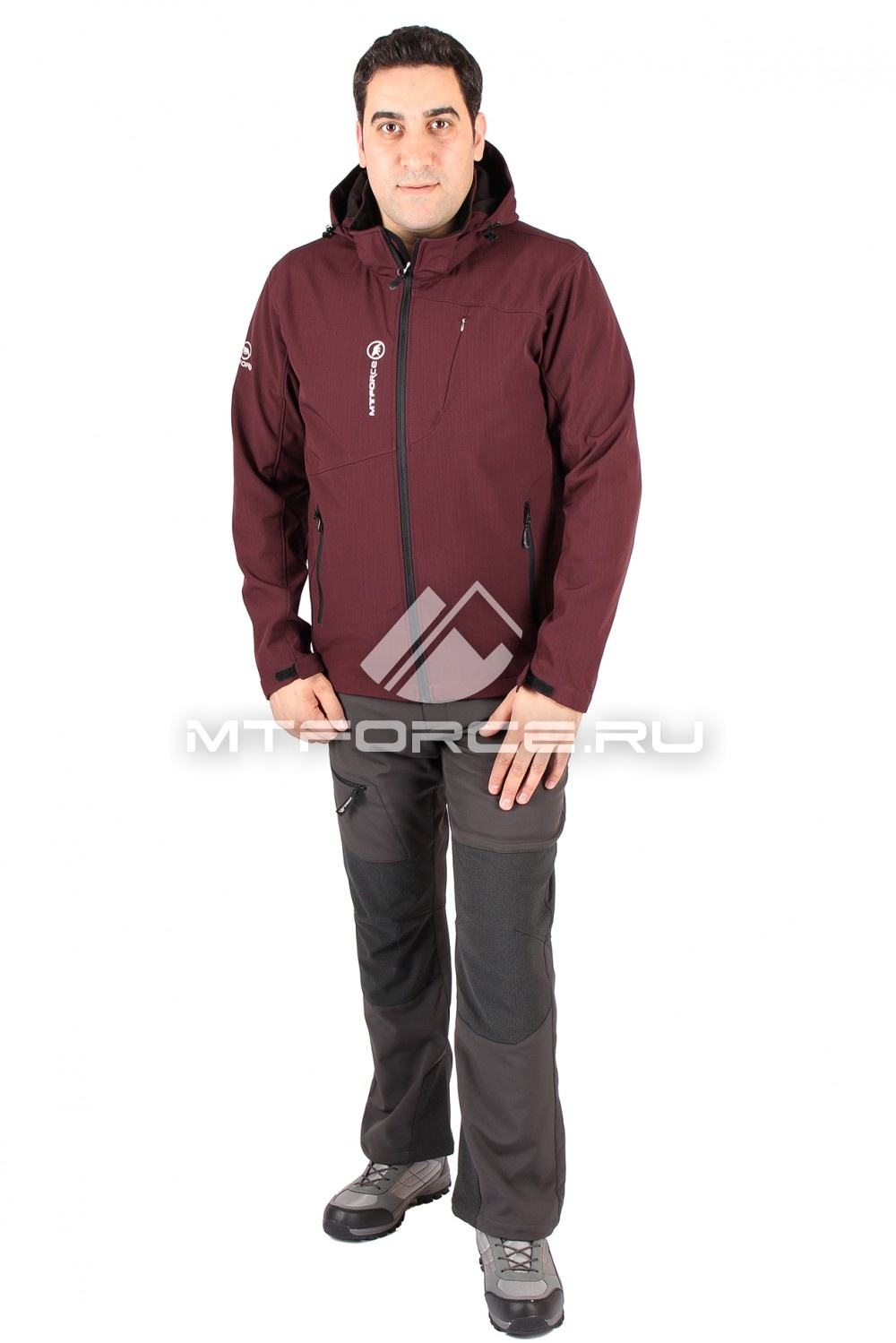 Купить                                  оптом Костюм виндстопер мужской бордового цвета 1504Bo