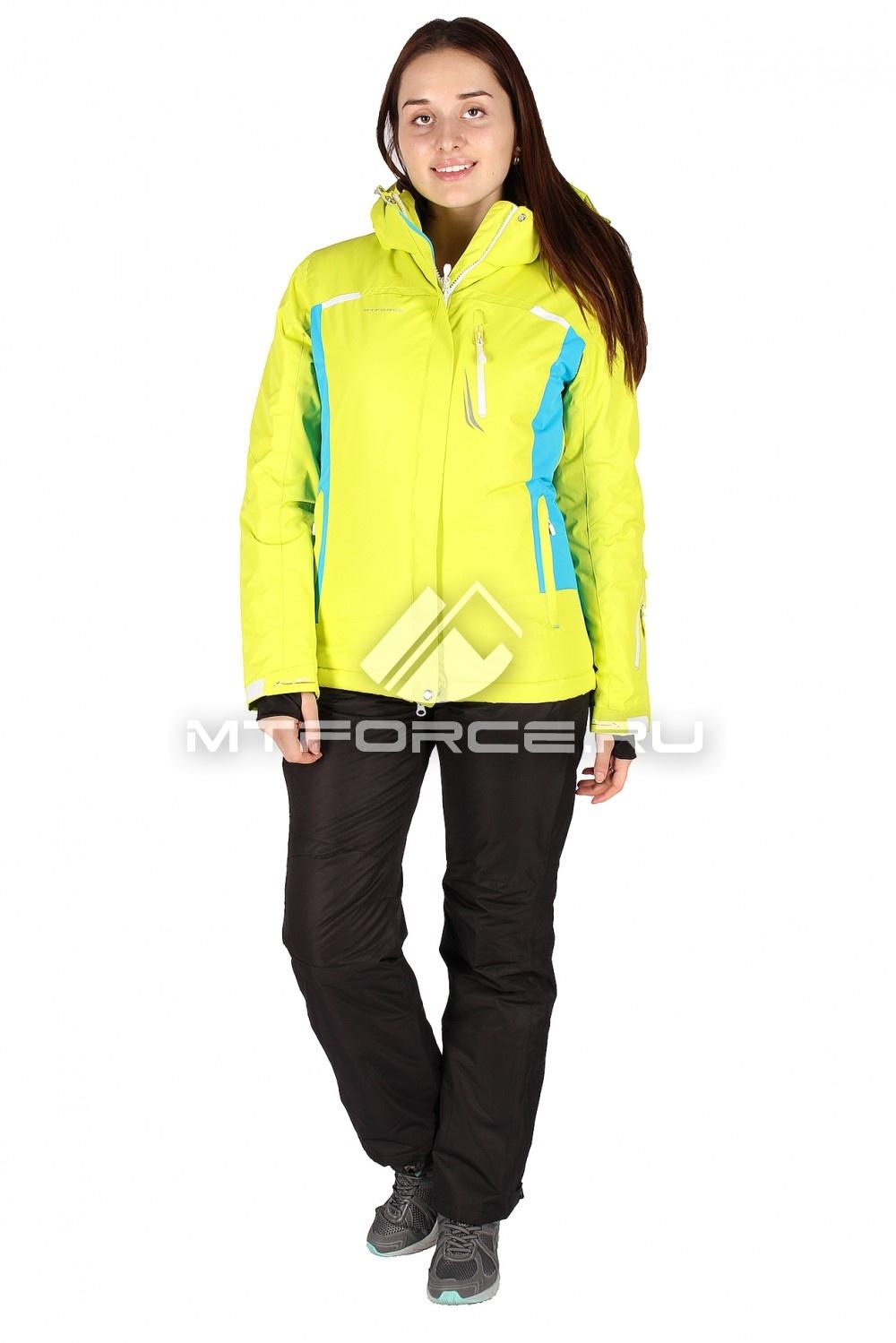 Купить                                  оптом Костюм горнолыжный женский желтого цвета 01513J