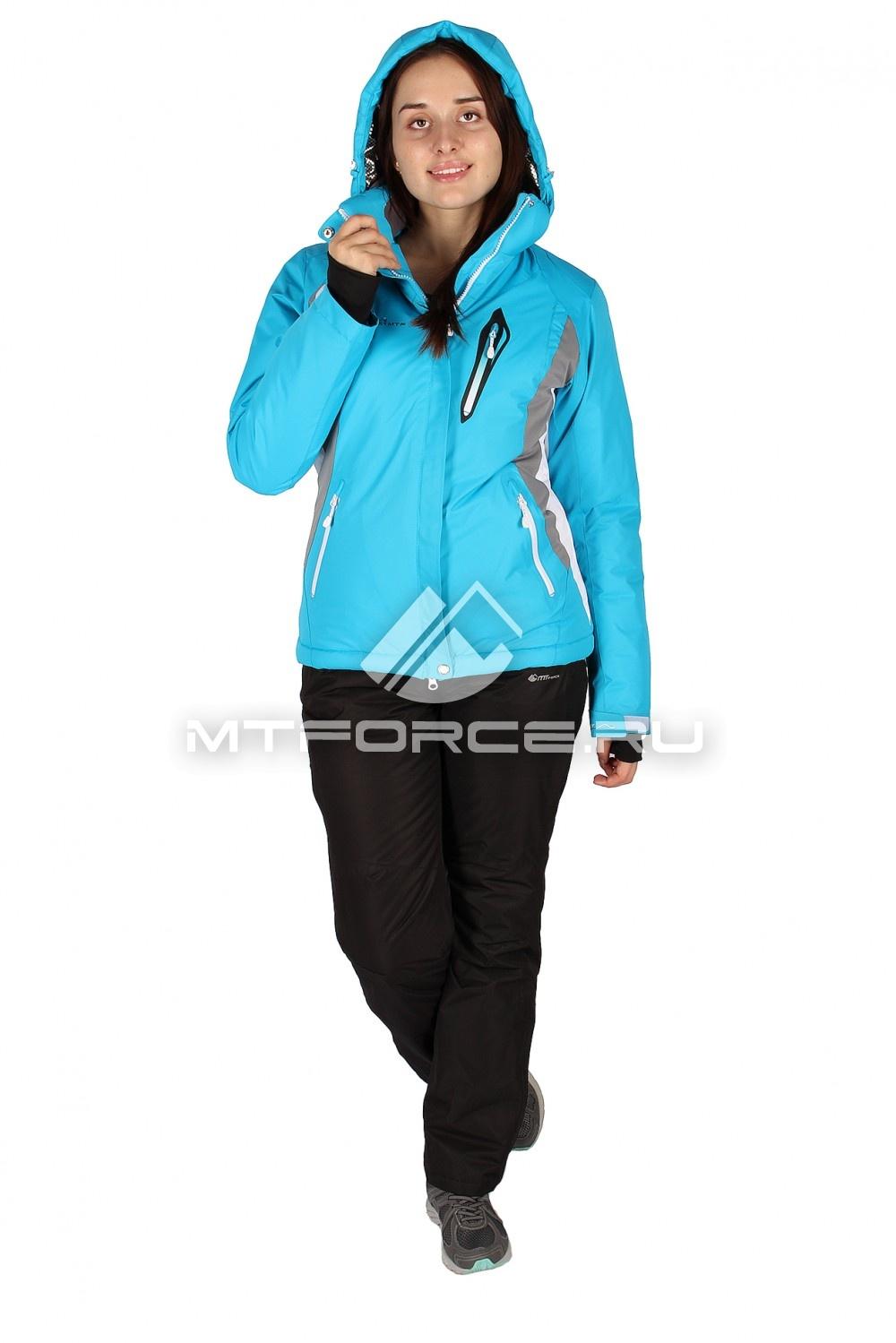 Купить                                  оптом Костюм горнолыжный женский синего цвета 01504S