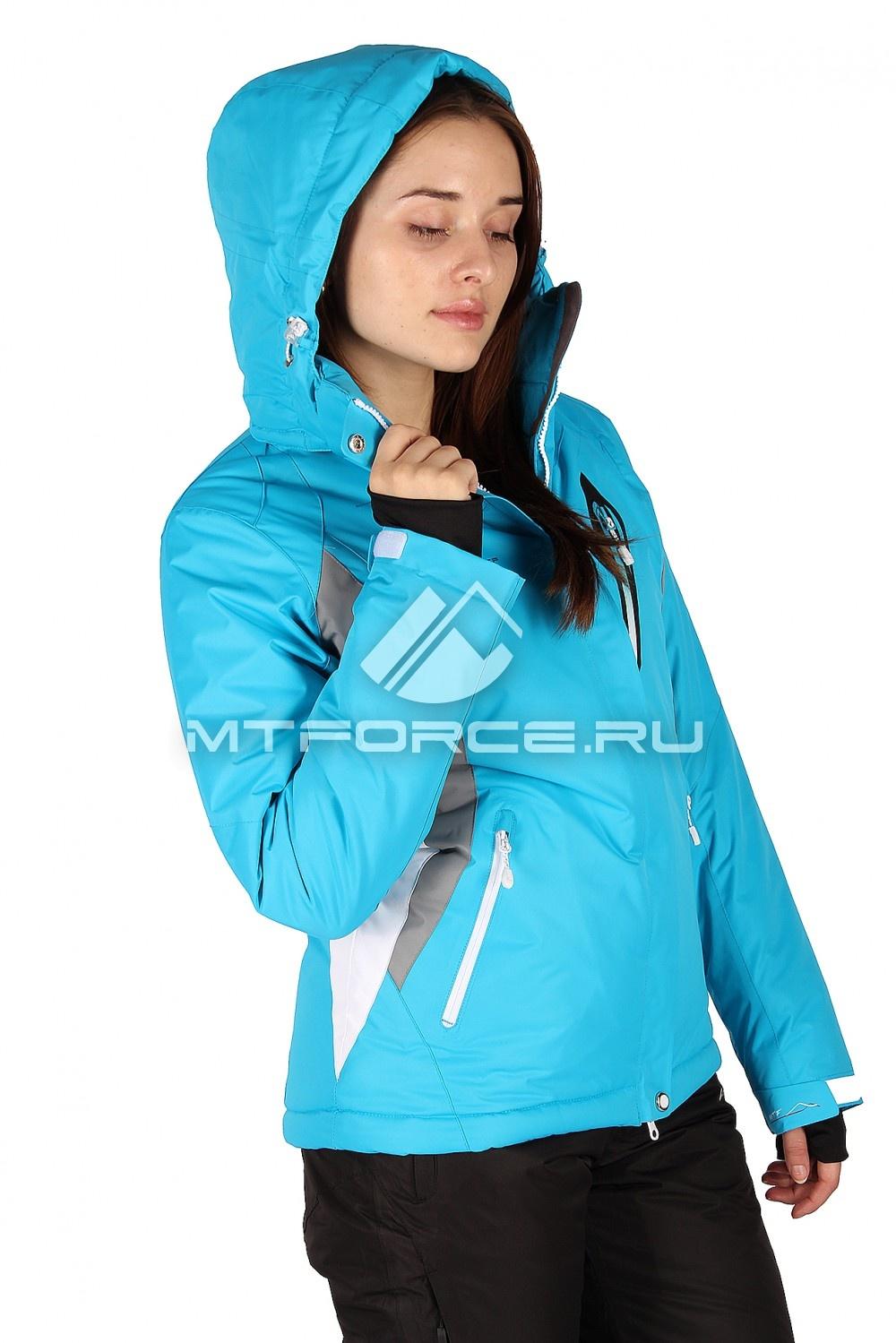 Купить                                  оптом Куртка горнолыжная женская синего цвета 1504S