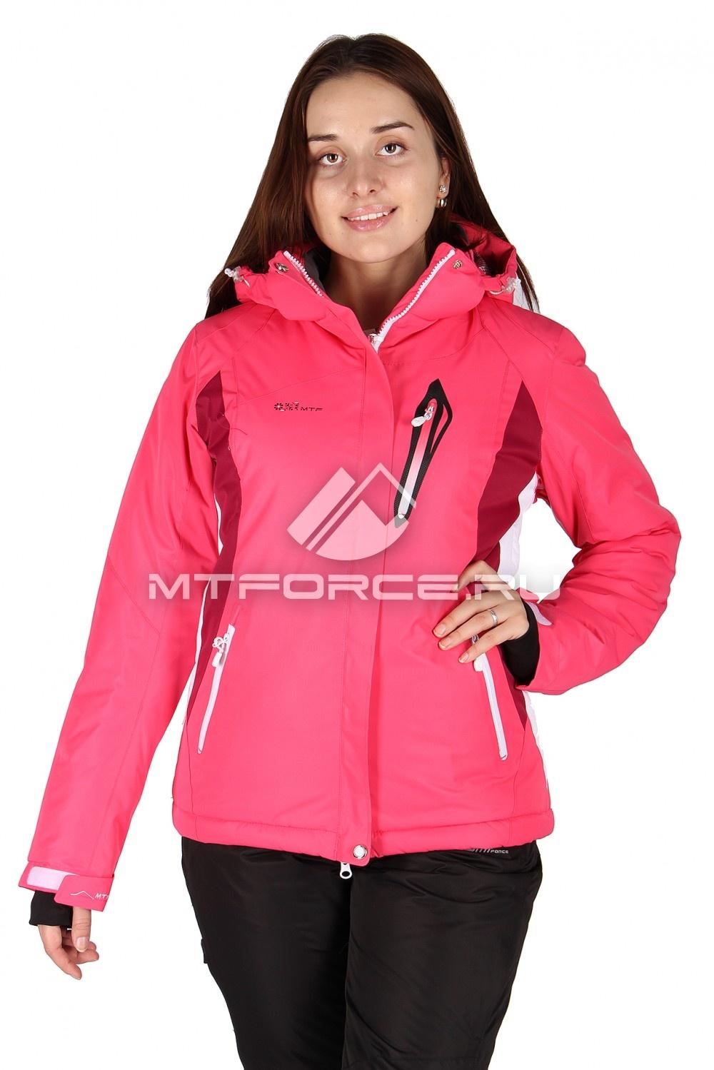 Купить                                  оптом Куртка горнолыжная женская розового цвета 150400R в Санкт-Петербурге