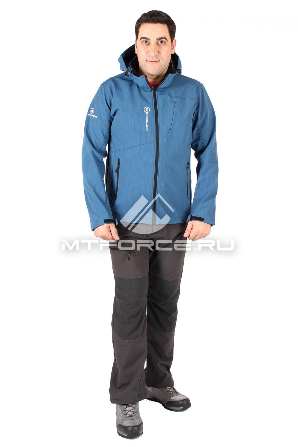 Купить                                  оптом Костюм виндстопер мужской синего цвета 1504S