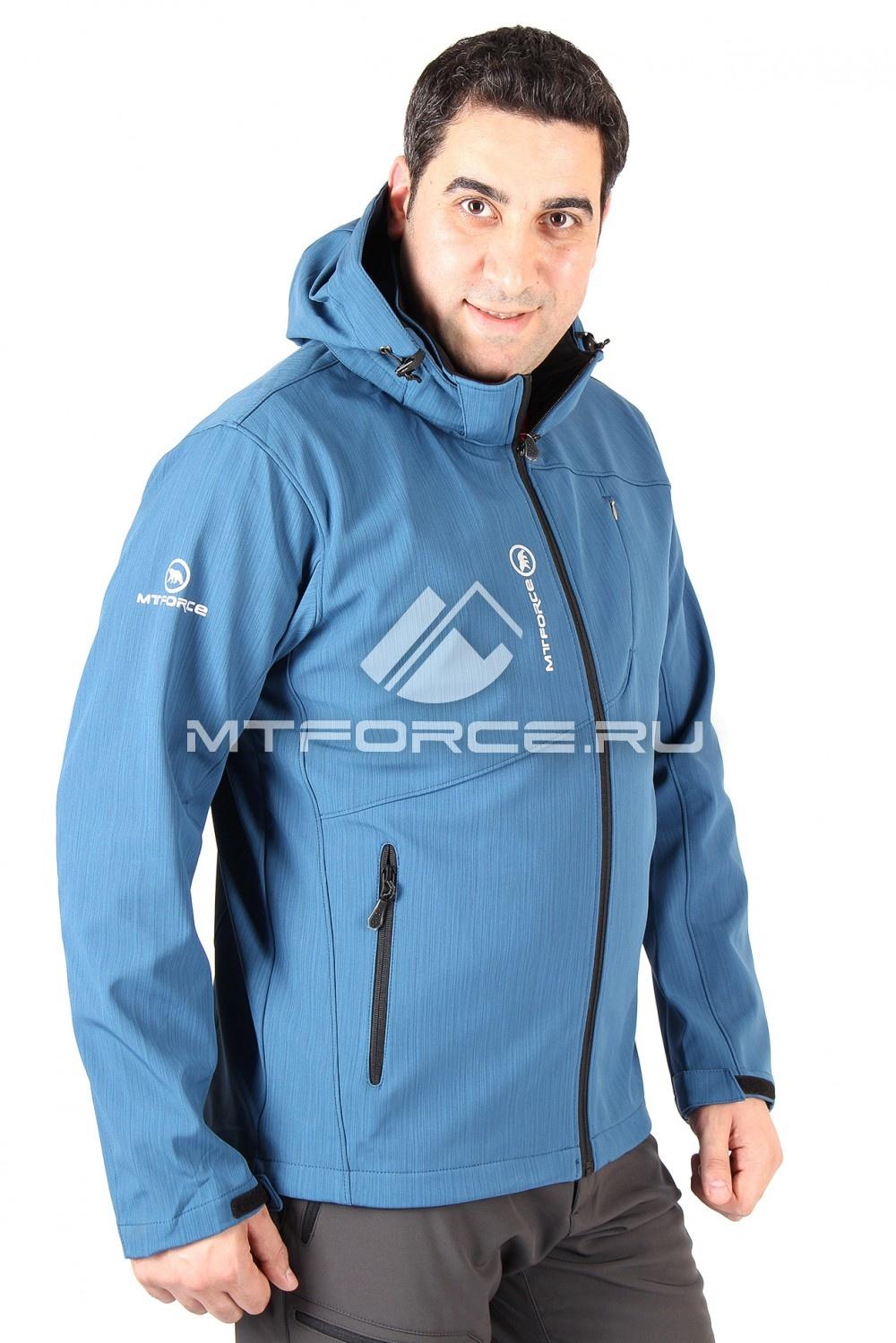 Купить                                  оптом Ветровка мужская синего цвета 01504S
