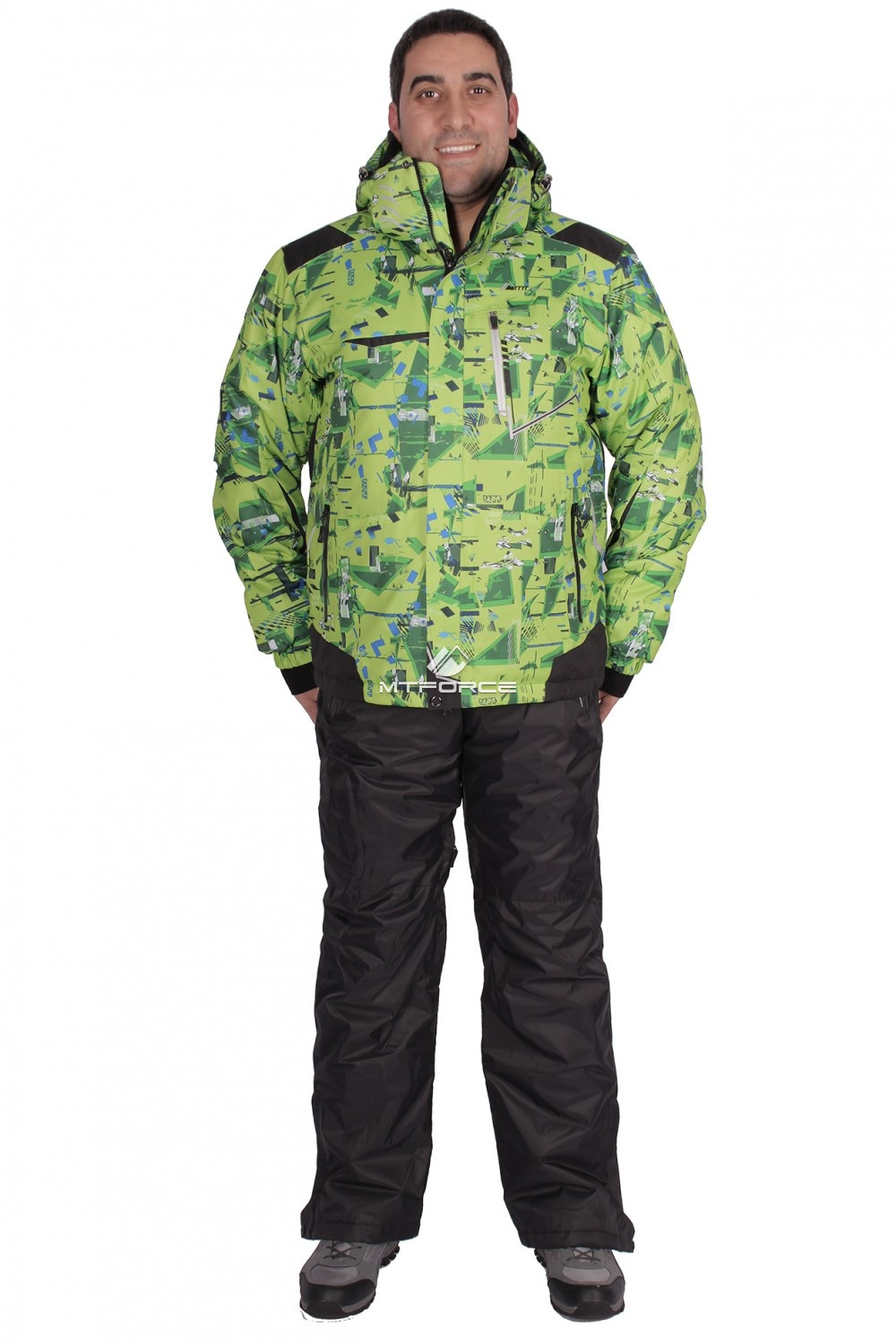 Купить оптом Костюм горнолыжный мужской салатового цвета 01509Sl