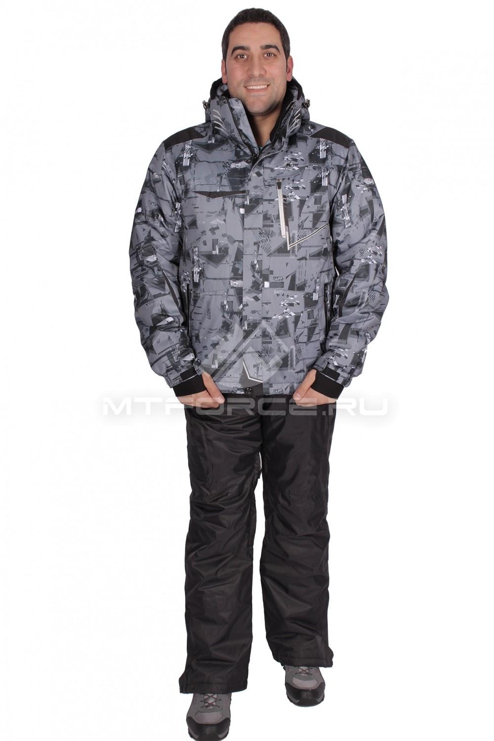 Купить                                  оптом Костюм горнолыжный мужской серого цвета 01509Sr