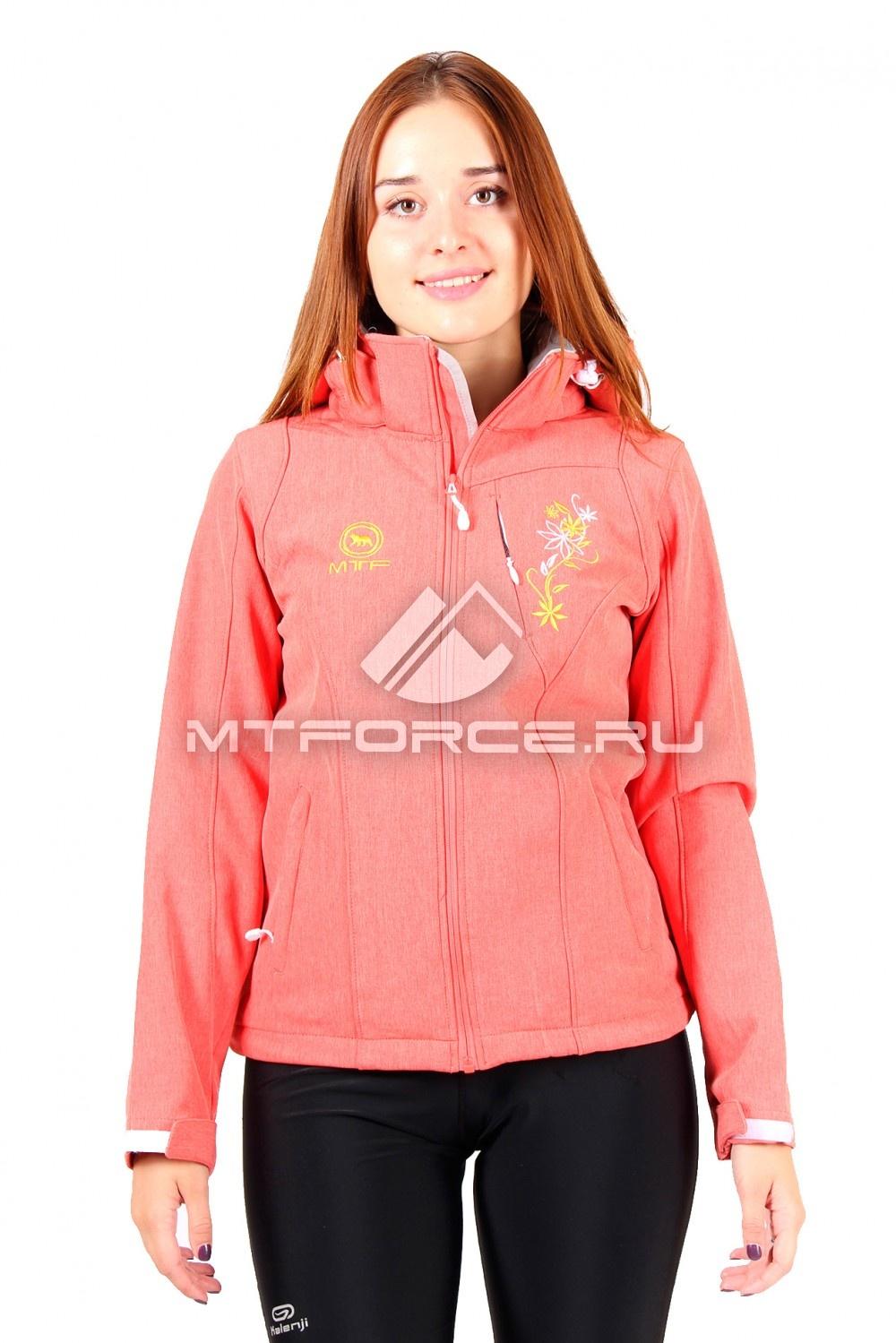 Купить                                  оптом Ветровка женская персикового цвета 1512P