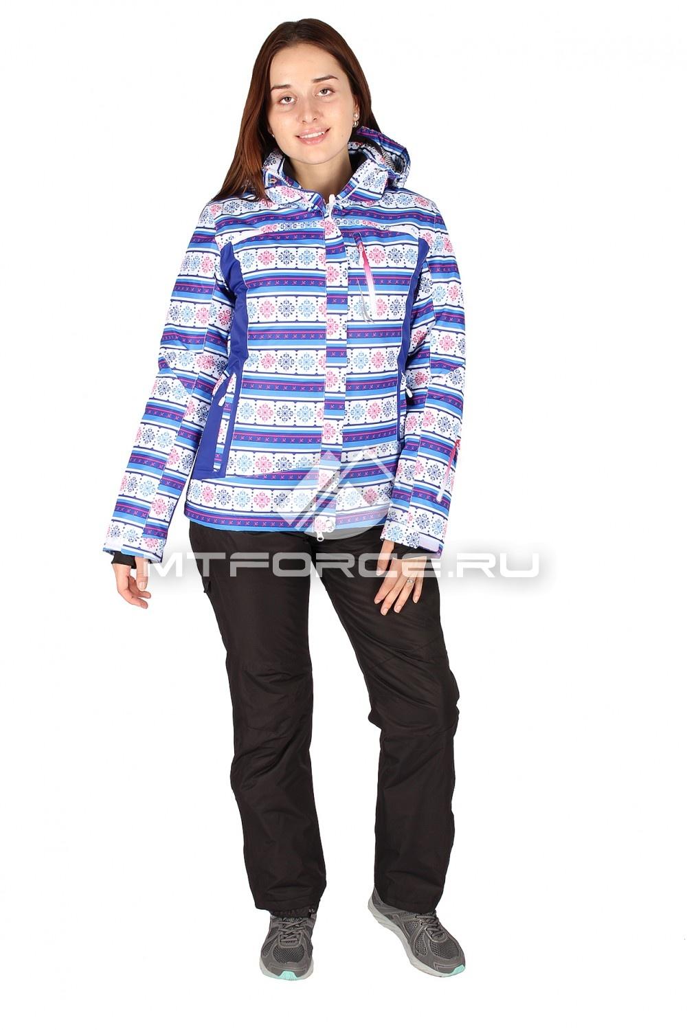Купить                                  оптом Костюм горнолыжный женский синего цвета 01513-1S
