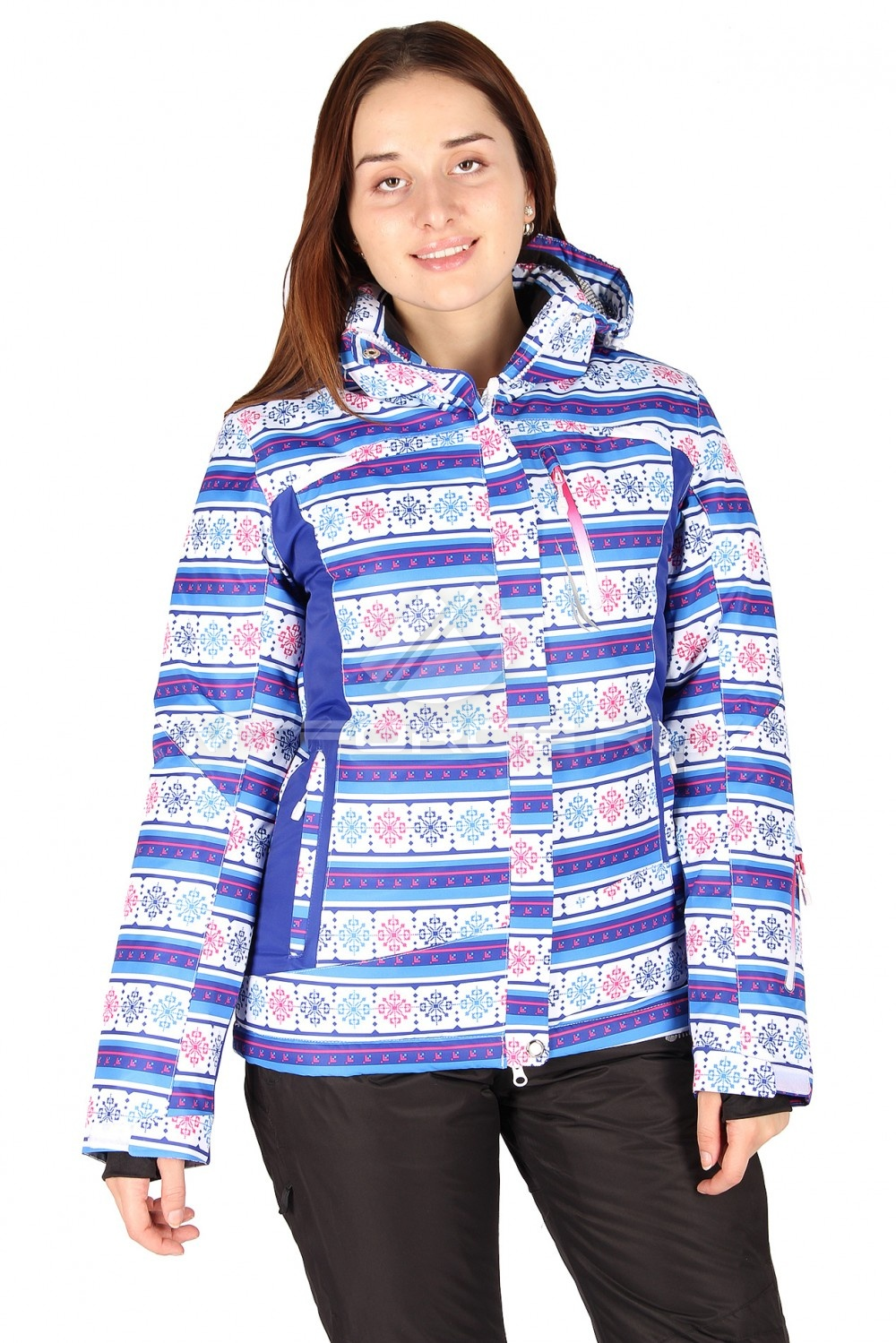 Купить                                  оптом Куртка горнолыжная женская синего цвета 1513-1S