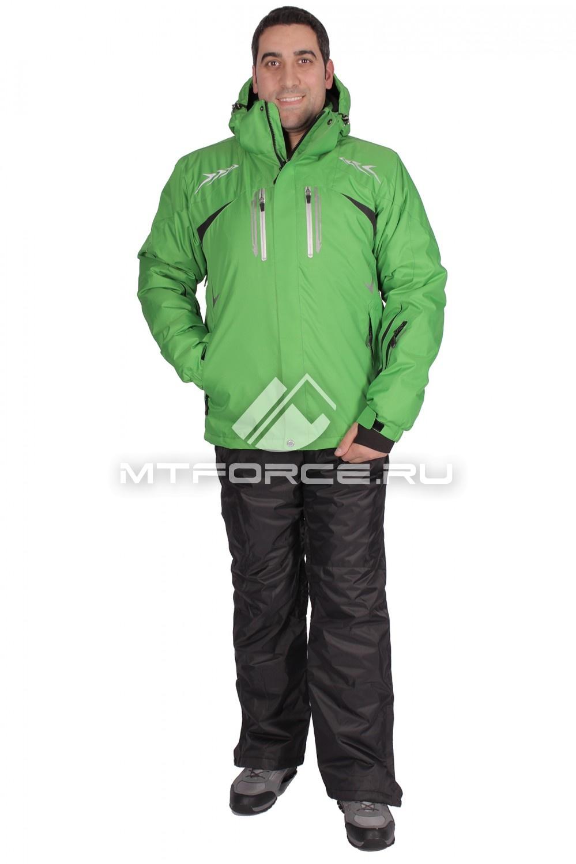 Купить                                  оптом Костюм горнолыжный мужской зеленого цвета 01515Z