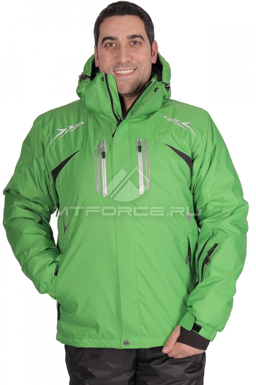 Купить                                  оптом Куртка горнолыжная мужская зеленого цвета 1515Z в Новосибирске