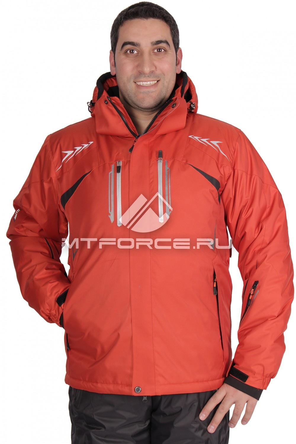 Купить                                  оптом Куртка горнолыжная мужская оранжевого цвета 1515O