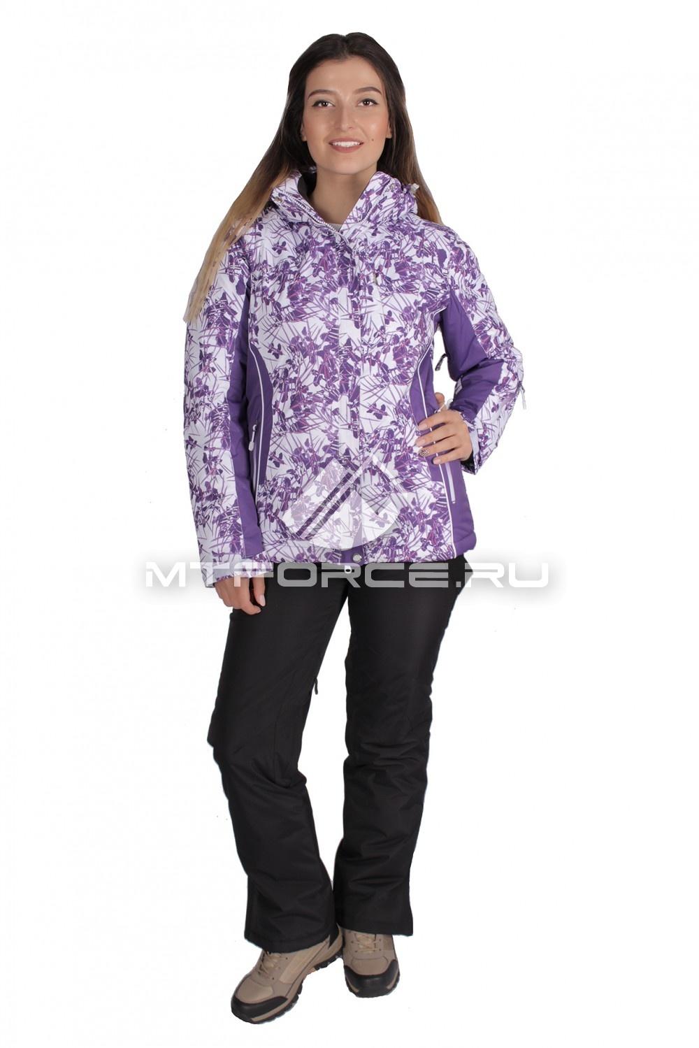 Купить  оптом Костюм горнолыжный женский фиолетового цвета 015151F