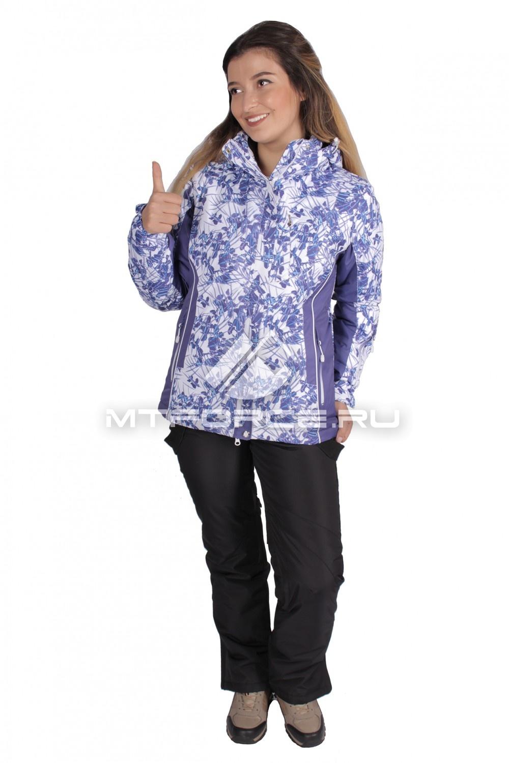Купить  оптом Костюм горнолыжный женский синего цвета 015151S
