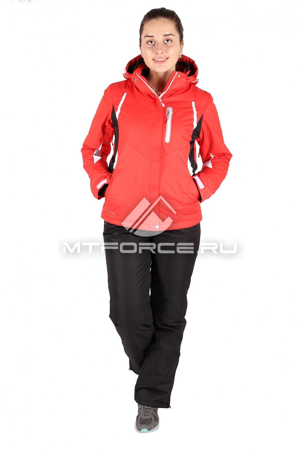 Купить                                  оптом Костюм горнолыжный женский красного цвета 01516Kr