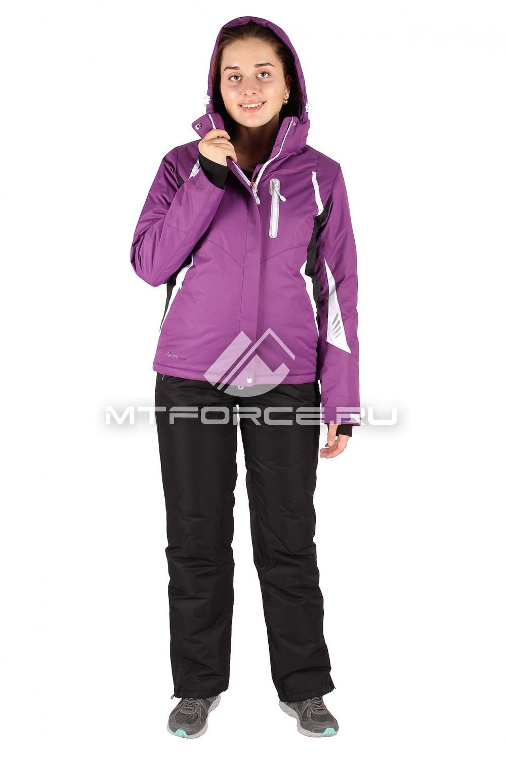 Купить оптом Костюм горнолыжный женский фиолетового цвета 01516F