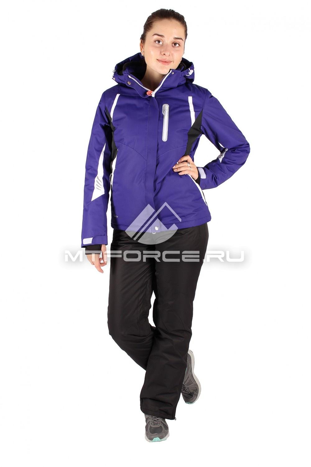 Купить                                  оптом Костюм горнолыжный женский синего цвета 01516S