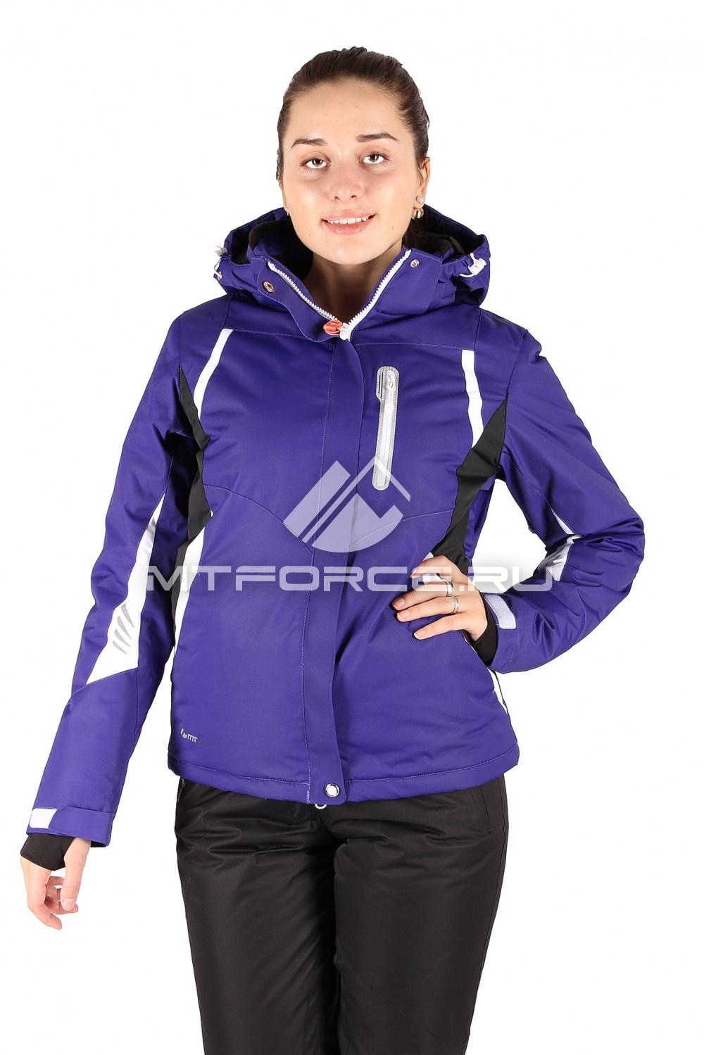 Купить                                  оптом Куртка горнолыжная женская синего цвета 1516S