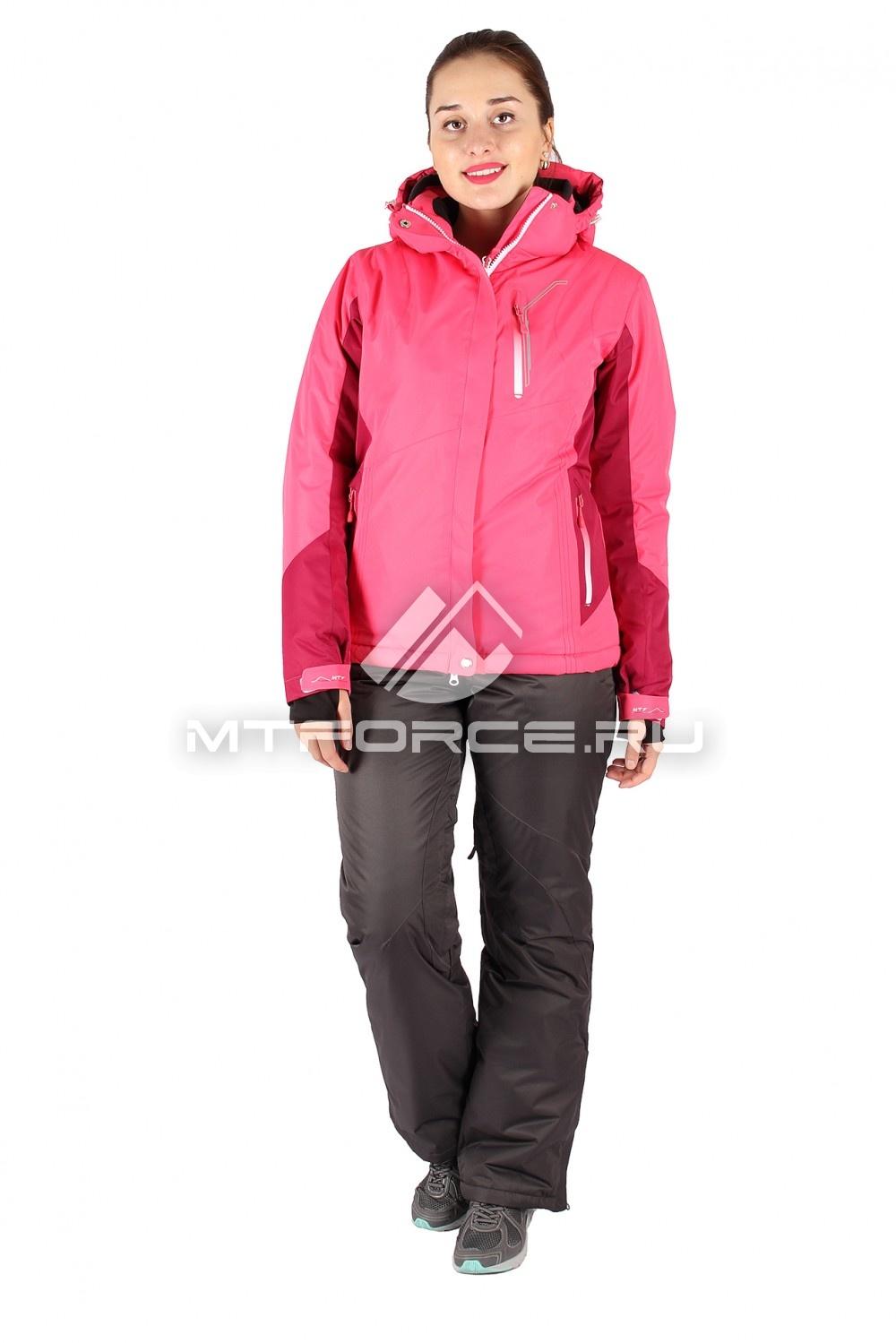 Купить                                  оптом Костюм горнолыжный женский розового цвета 01517R