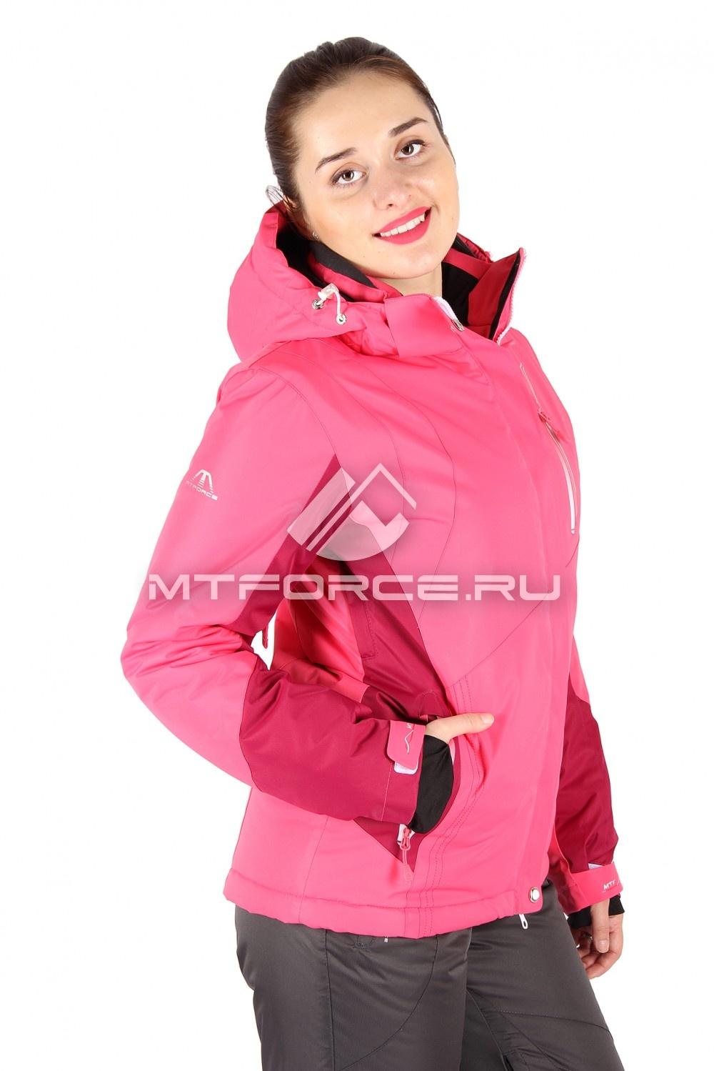 Купить                                  оптом Куртка горнолыжная женская розового цвета 1517R