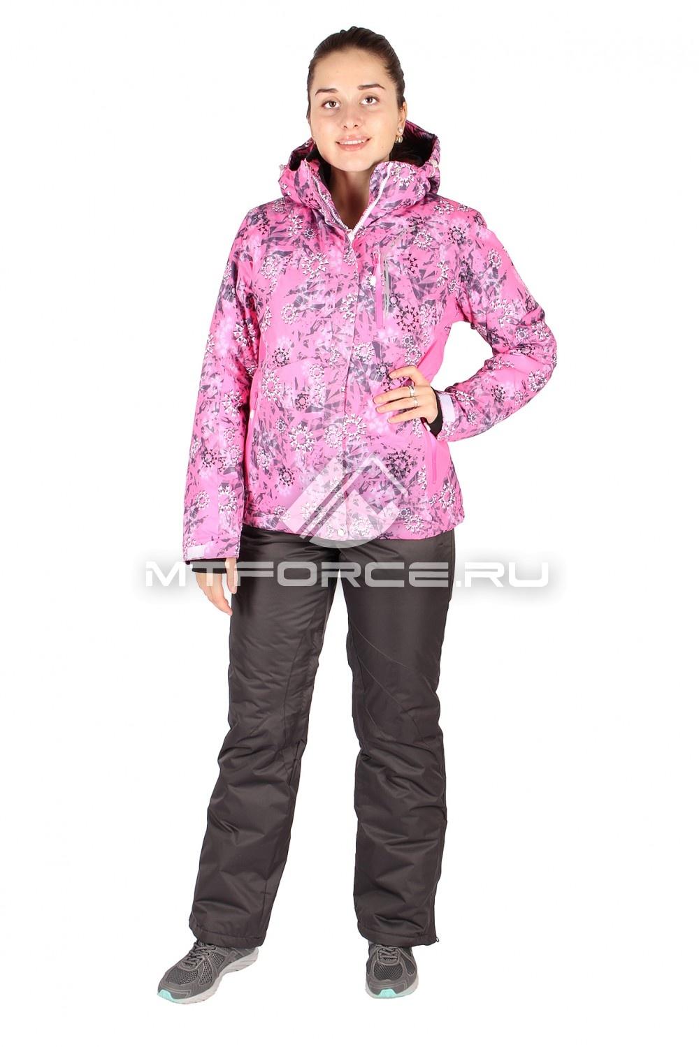 Купить                                  оптом Костюм горнолыжный женский розового цвета 01517-1R