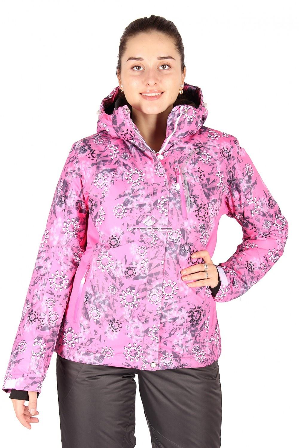 Купить                                  оптом Куртка горнолыжная женская розового цвета 1517-1R
