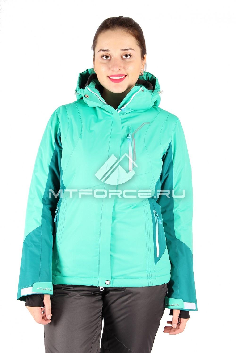 Купить                                  оптом Куртка горнолыжная женская зеленого цвета 1517Z
