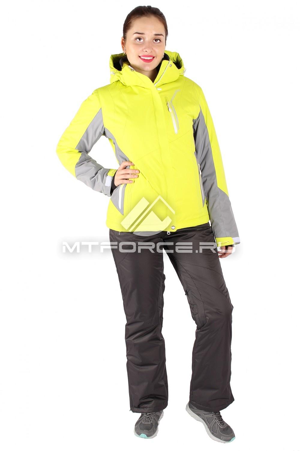 Купить                                  оптом Костюм горнолыжный женский желтого цвета 01517J