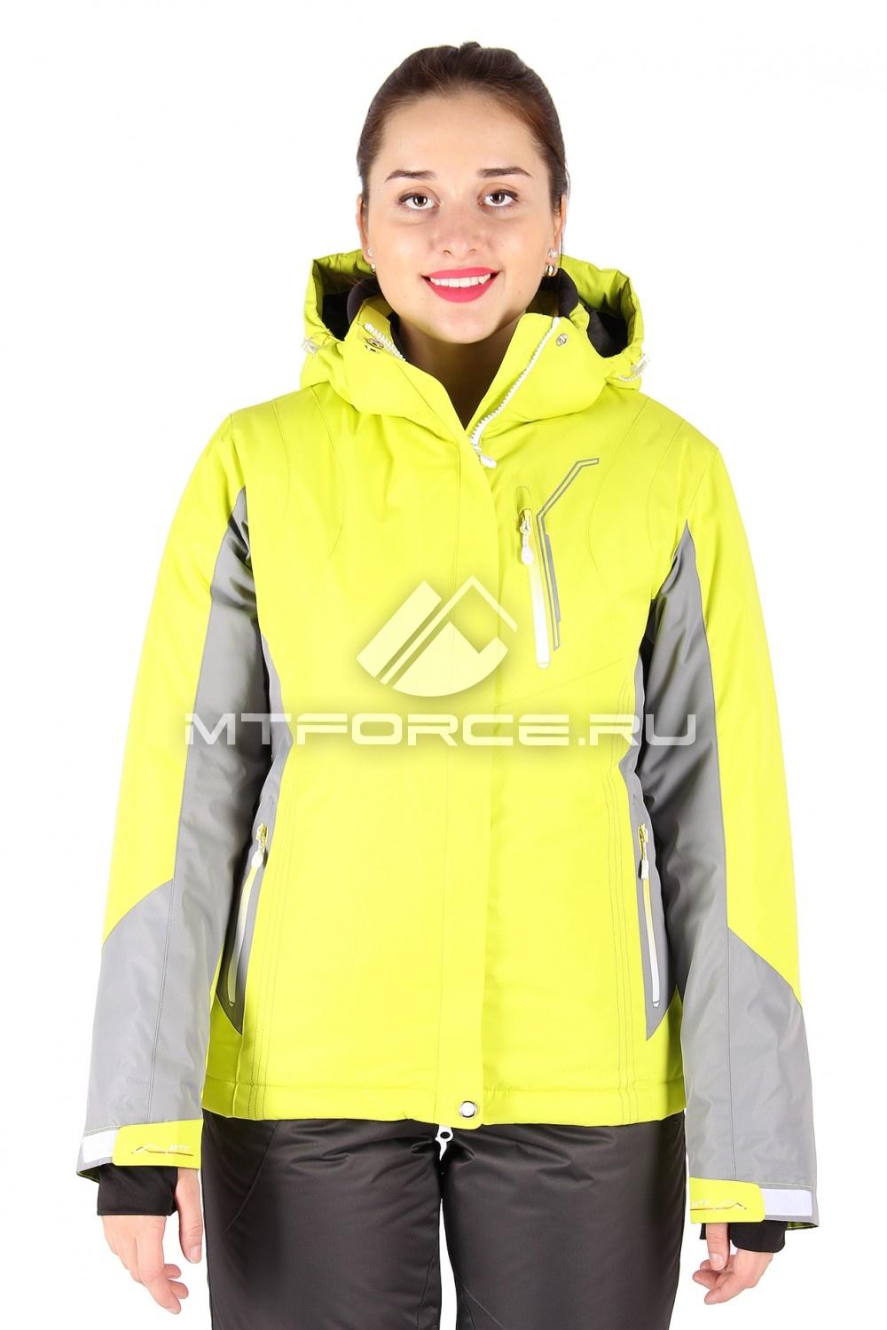 Купить                                  оптом Куртка горнолыжная женская желтого цвета 1517J