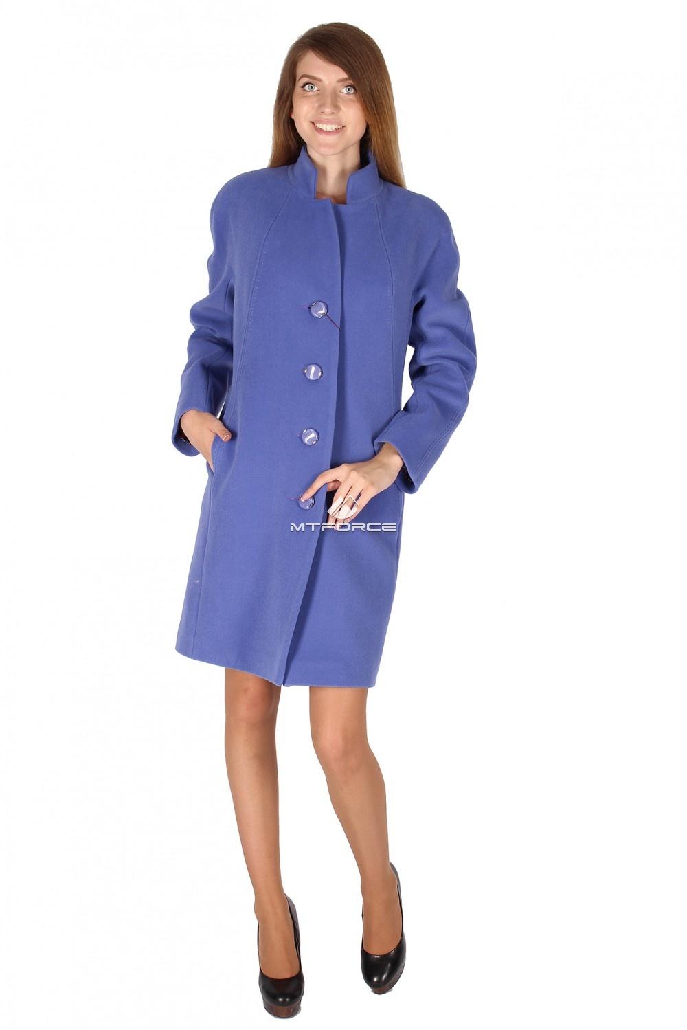 Купить оптом Пальто женское голубой цвета 15193Gl