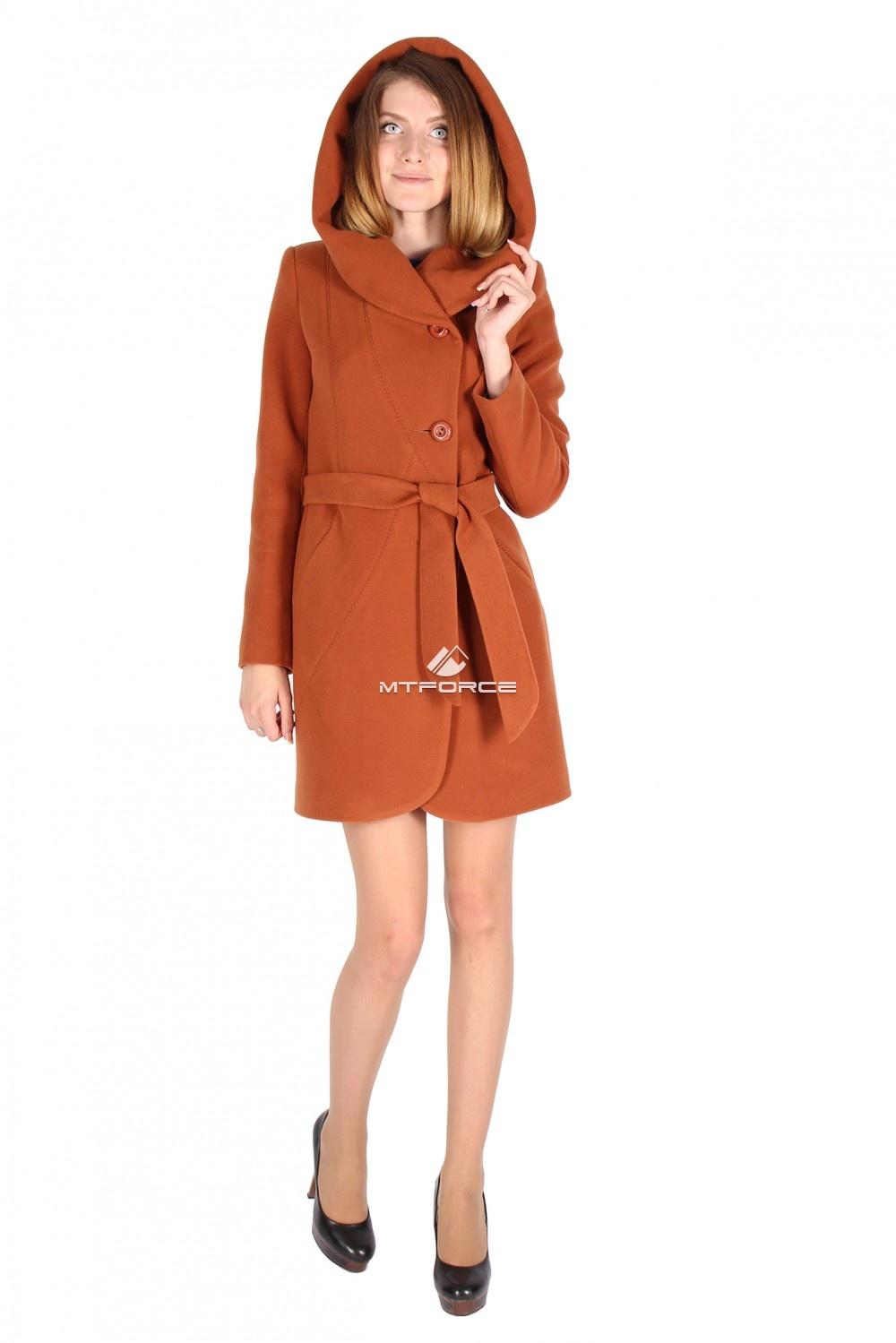 Купить                                  оптом Пальто женское коричневого цвета 15224K
