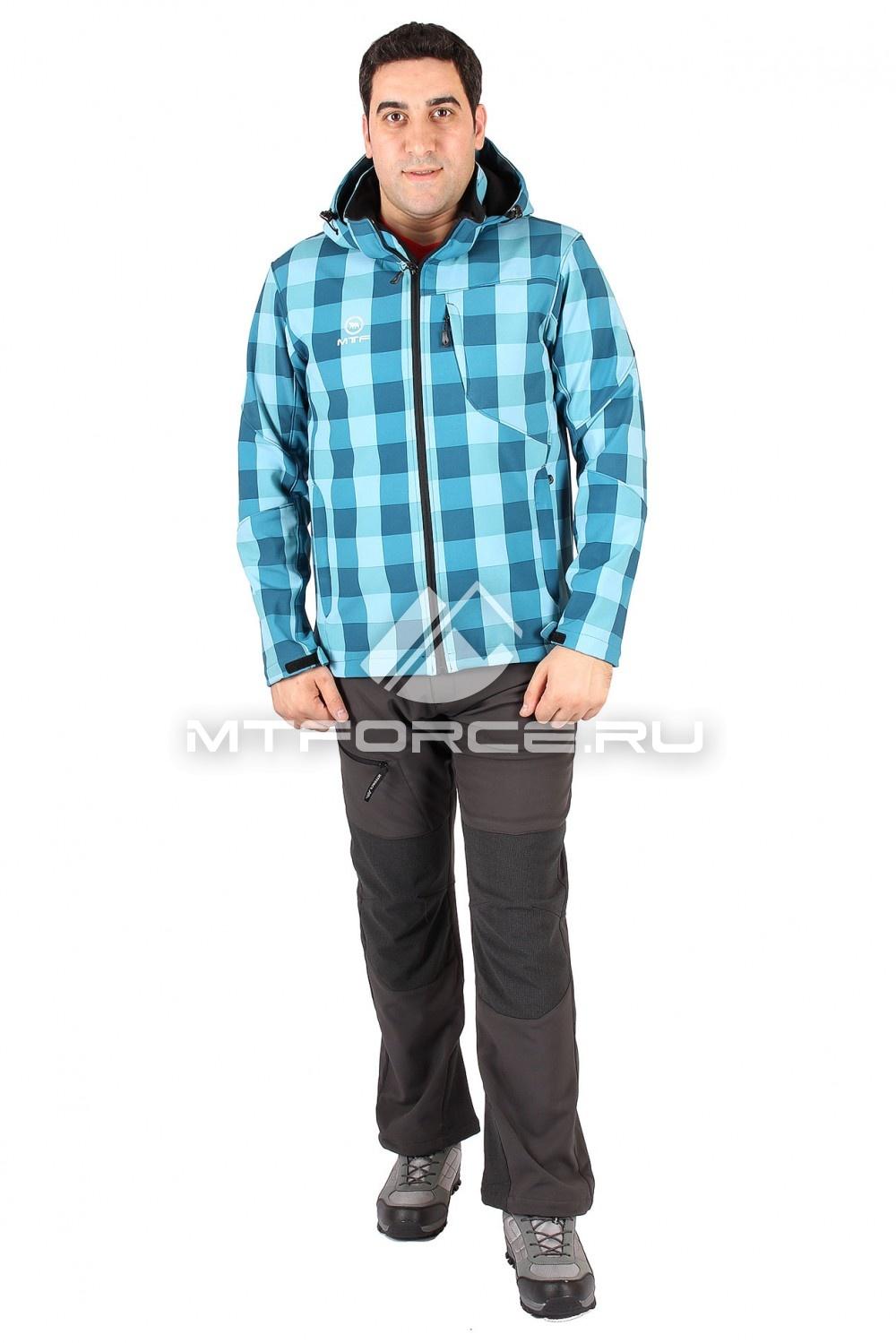 Купить                                  оптом Костюм виндстопер мужской бирюзового цвета 15220Br