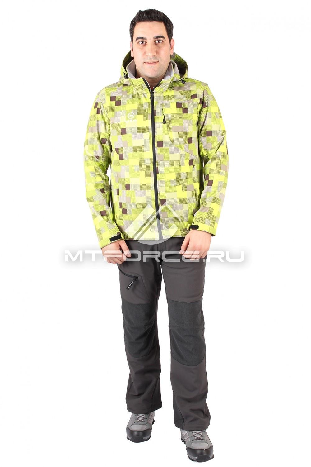 Купить                                  оптом Костюм виндстопер мужской желтого цвета 15220Sl в Санкт-Петербурге