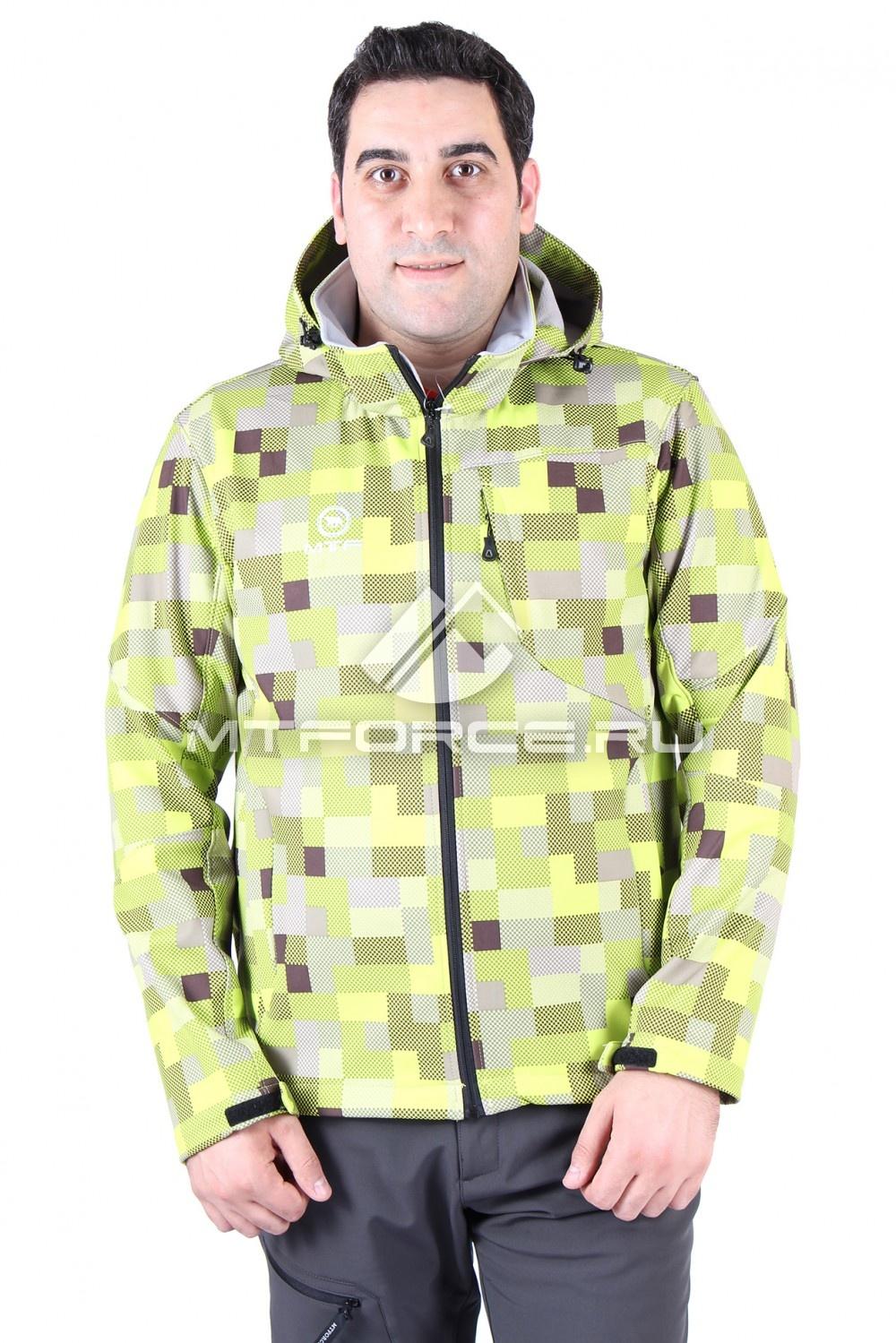 Купить                                  оптом Ветровка мужская салатового цвета 01522Sl в Новосибирске