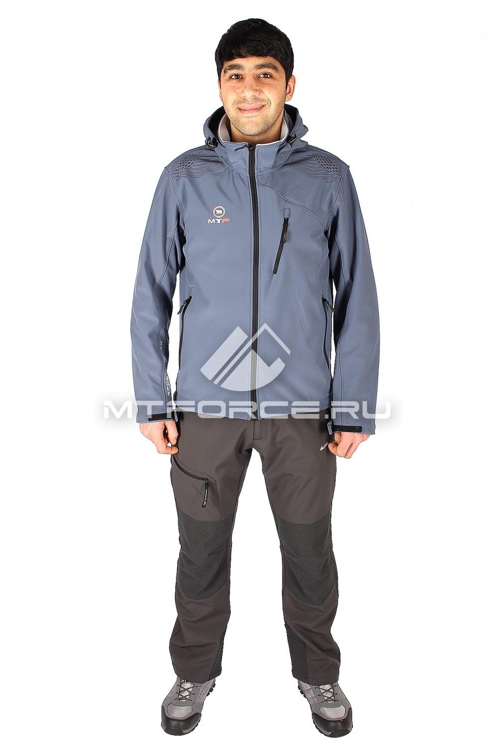 Купить                                  оптом Костюм виндстопер мужской серого цвета  01523Sr