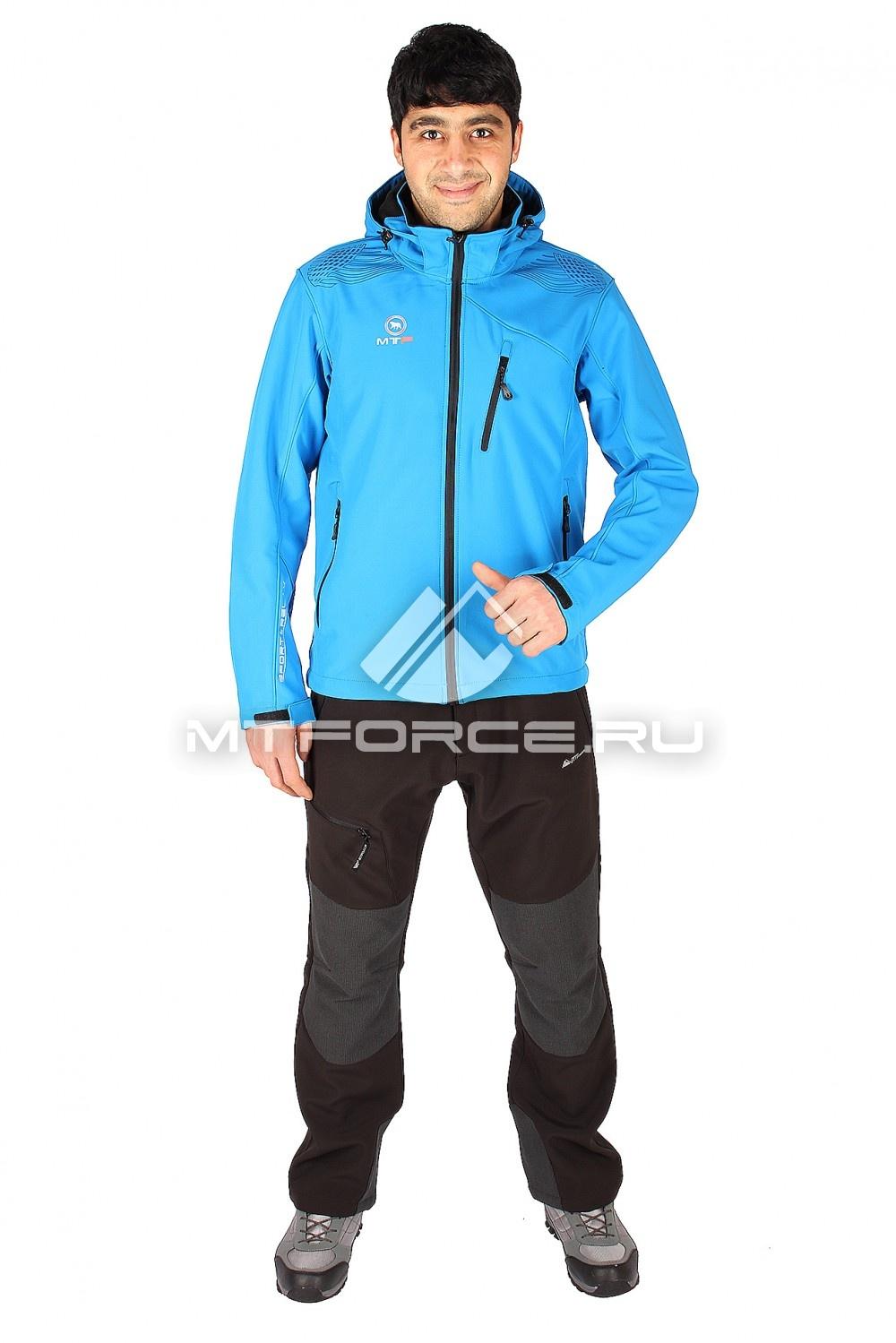 Купить                                  оптом Костюм виндстопер мужской синего цвета  01523S в Санкт-Петербурге