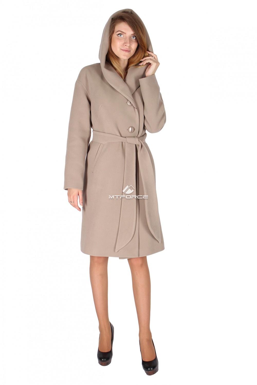 Купить                                  оптом Пальто женское бежевого цвета 15249B в Новосибирске