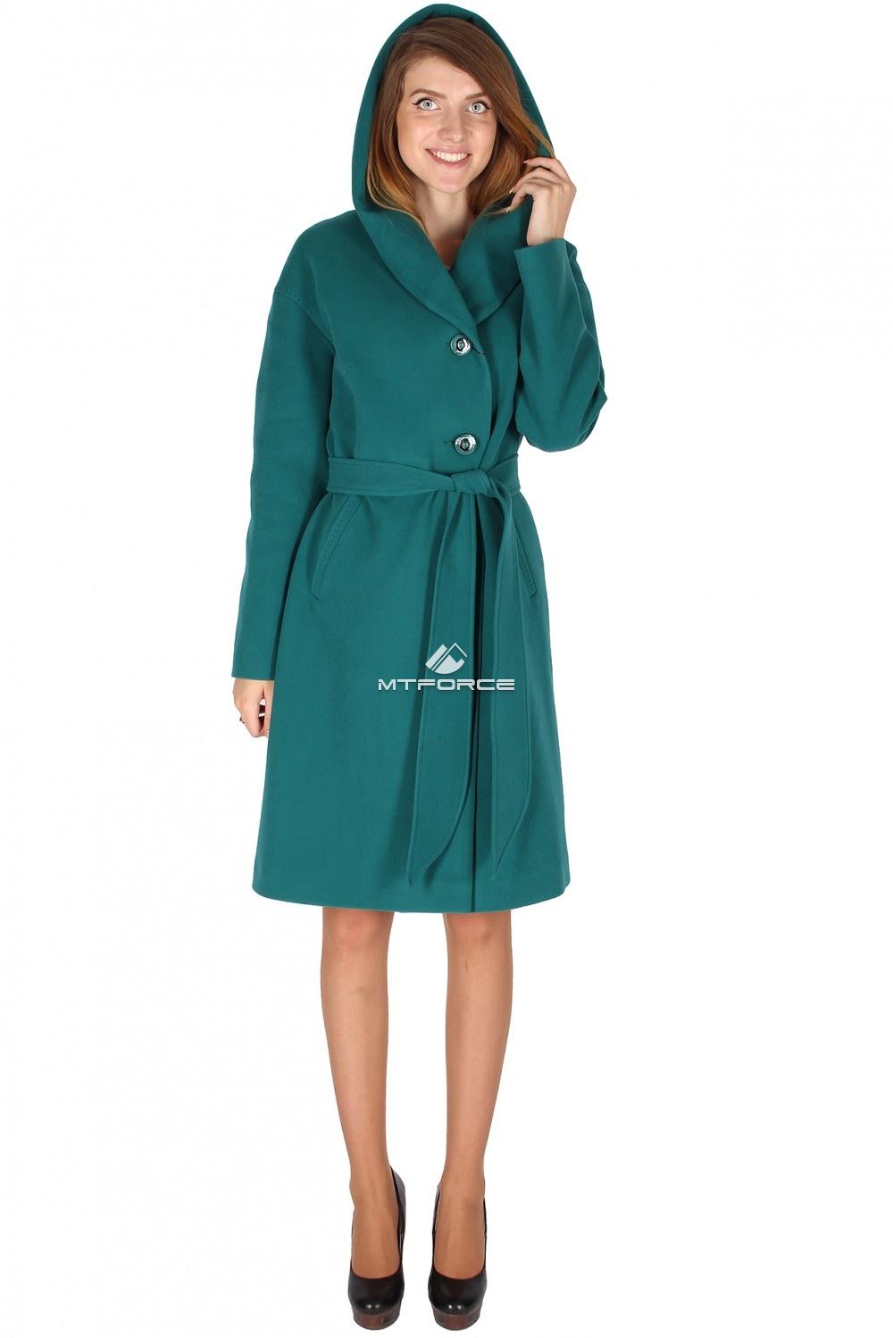 Купить оптом Пальто женское зеленого цвета 15249Z