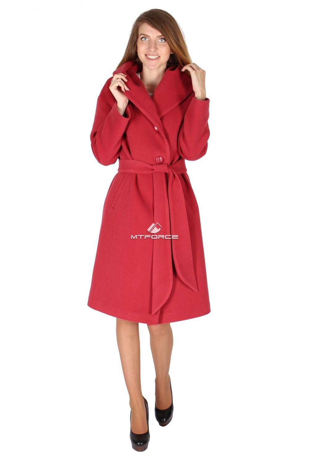 Купить                                  оптом Пальто женское персикового цвета 15249P в Санкт-Петербурге