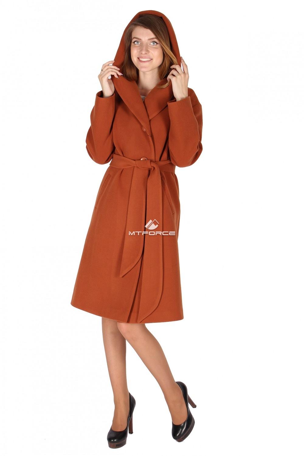 Купить                                  оптом Пальто женское каричнивого цвета 15249K