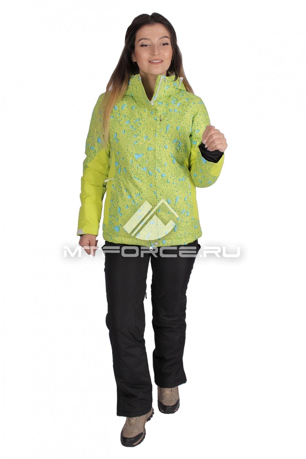 Купить                                  оптом Костюм горнолыжный женский желтого цвета 01525J