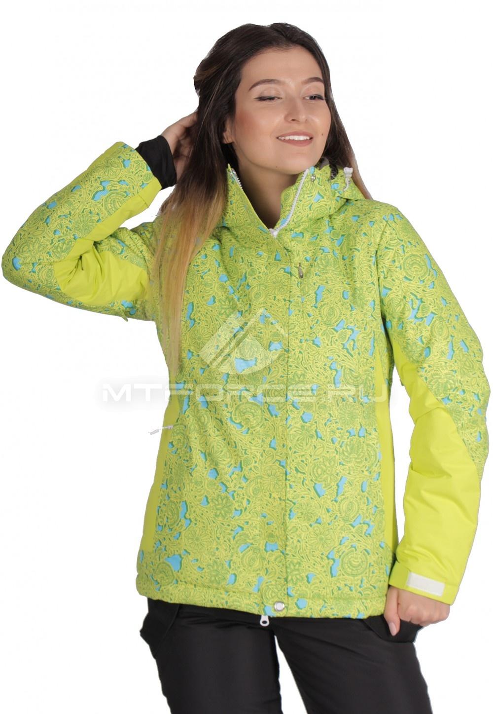 Купить  оптом Куртка горнолыжная женская желтого цвета 1525J