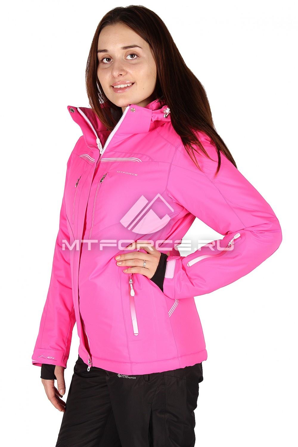 Купить оптом Куртка горнолыжная женская розового цвета 1526R