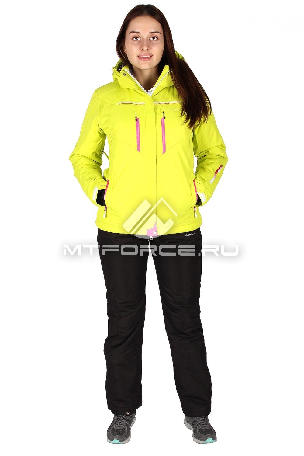 Купить                                  оптом Костюм горнолыжный женский желтого цвета 01526J
