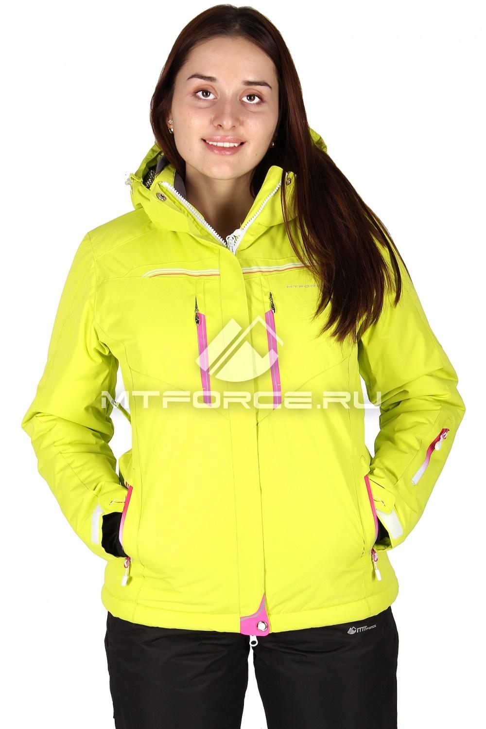 Купить                                  оптом Куртка горнолыжная женская желтого цвета 1526J