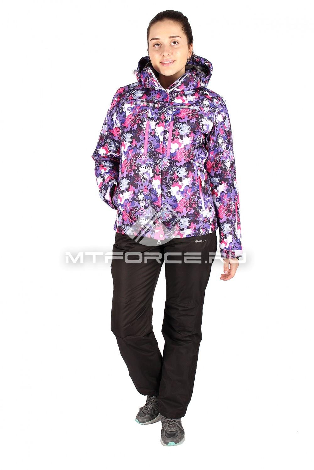 Купить                                  оптом Костюм горнолыжный женский фиолетового цвета 01526-1F