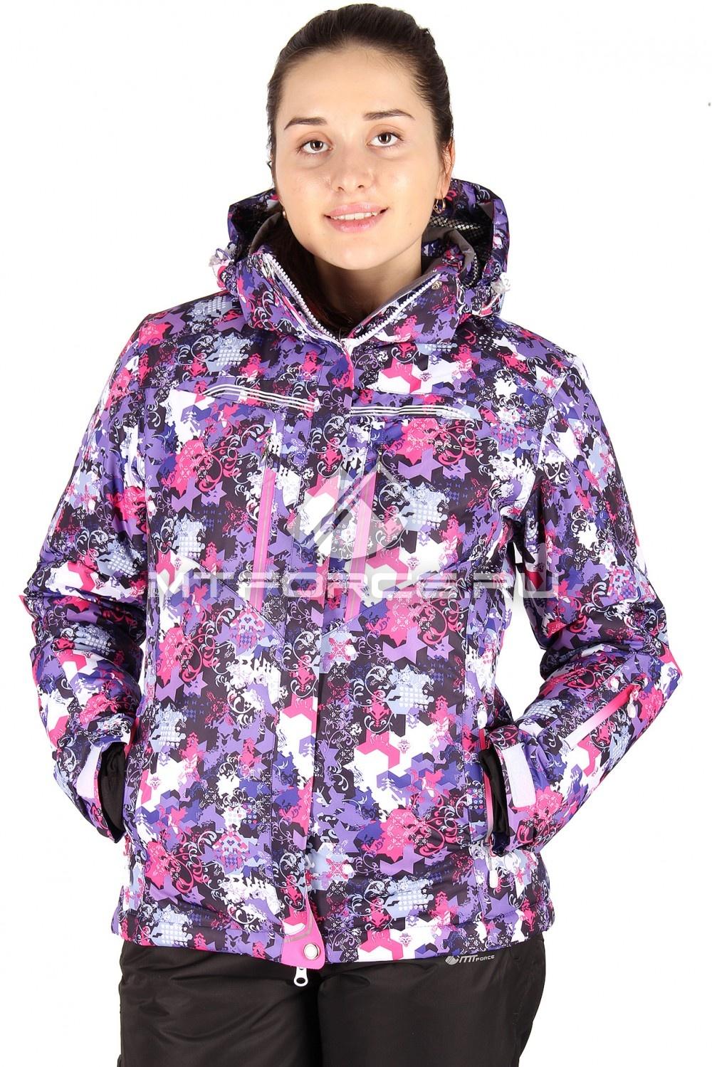 Купить                                  оптом Куртка горнолыжная женская фиолетового цвета 1526-1F