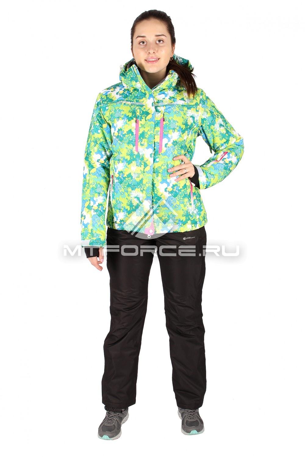 Купить оптом Костюм горнолыжный женский зеленого цвета 01526-1Z