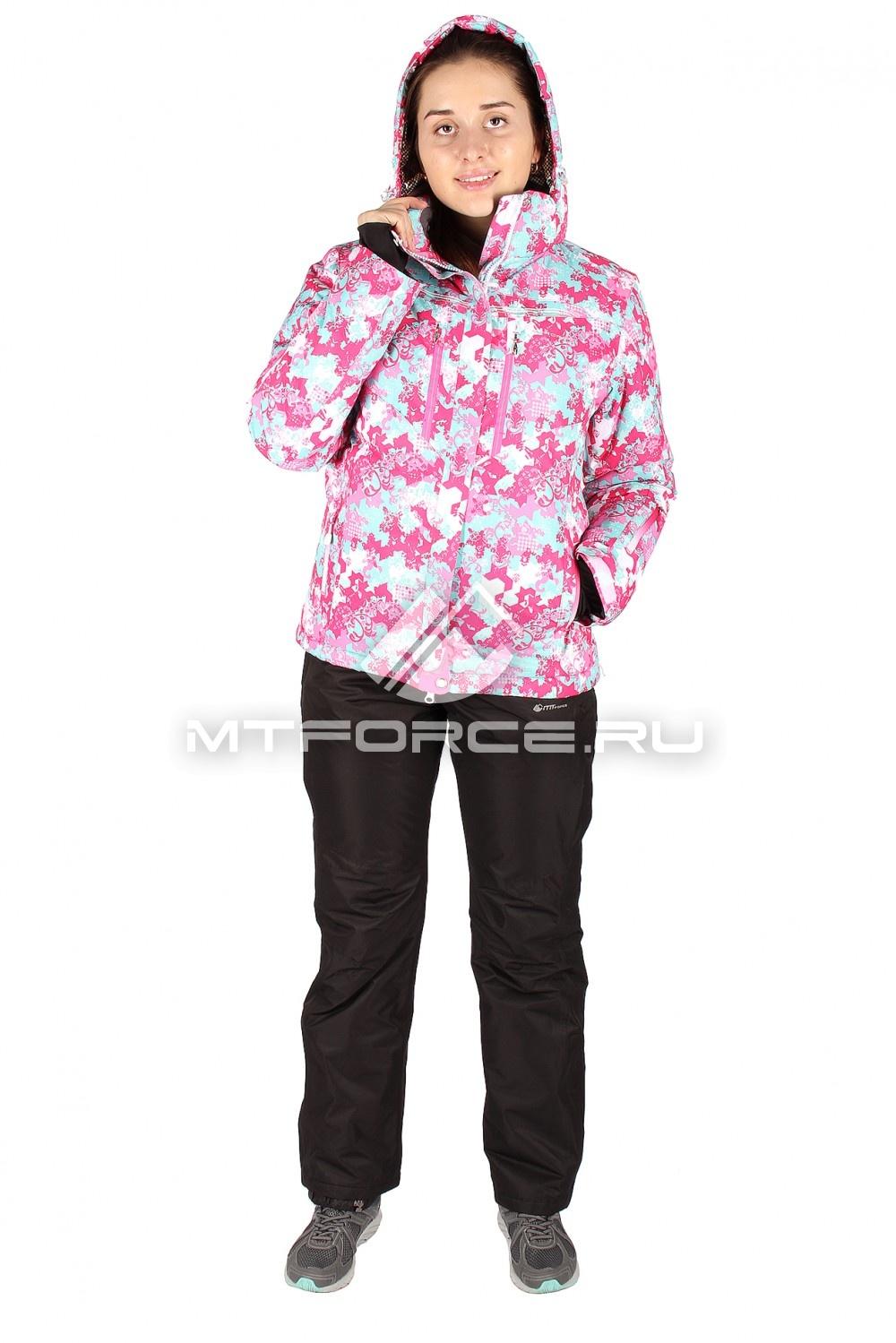 Купить                                  оптом Костюм горнолыжный женский розового цвета 01526-1R